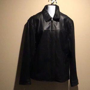Genuine leather men's jacket